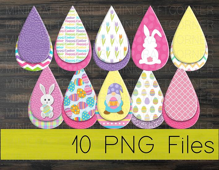PNG -Easter Earrings Design File 2