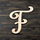 Thumbnail: Letter F Wooden Cutout