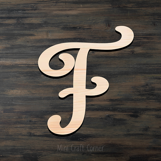Letter F Wooden Cutout