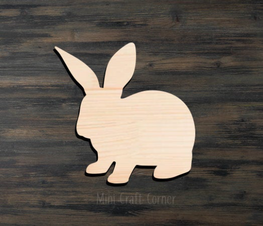 Bunny Wooden Cutout
