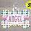 Thumbnail: DIGITAL Pink Floral Dog Tag File