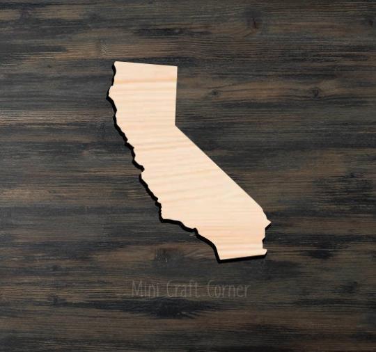 California Wooden Cutout