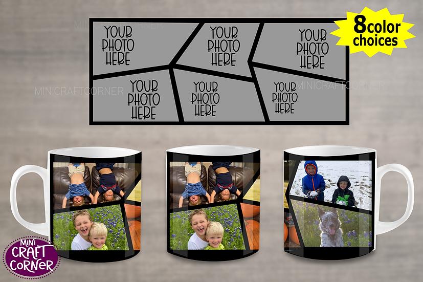DIGITAL Abstract Photo Mug Wraps
