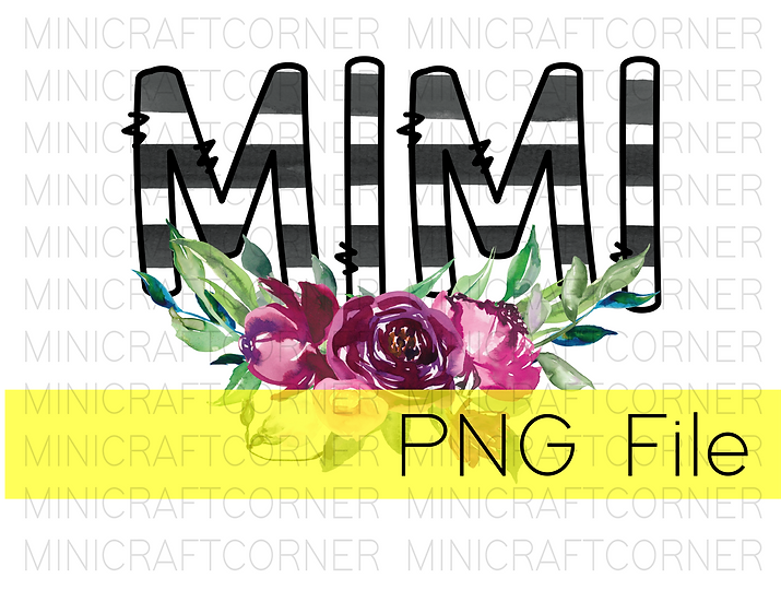 PNG -Mimi Floral Design File