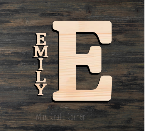 Letter with Name Wooden Cutout