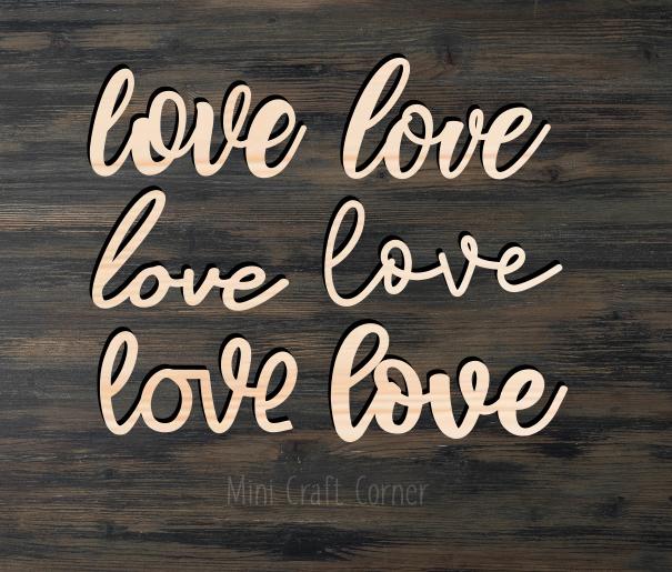 Love Wooden Cutout
