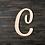 Thumbnail: Letter C Wooden Cutout