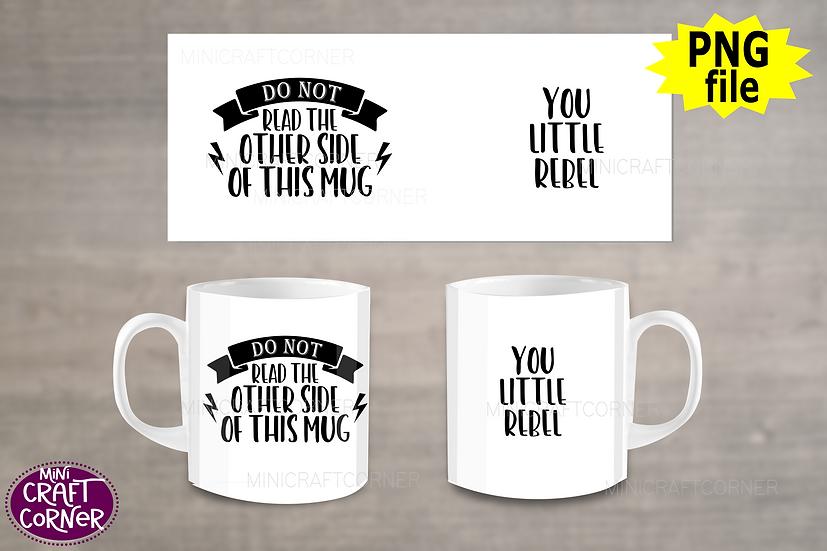 DIGITAL Funny Mug Wrap
