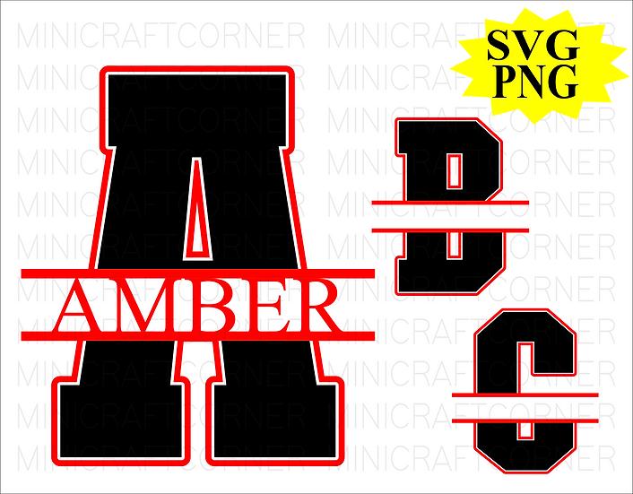 DIGITAL Split Monogram PNG/SVG Files