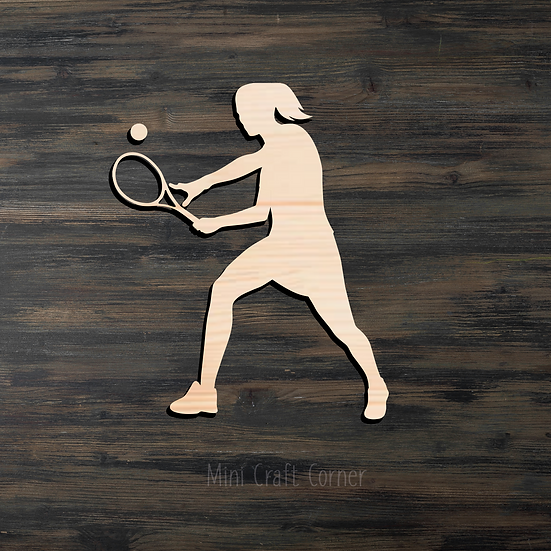 Tennis Player Wooden Cutout