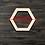 Thumbnail: Hexagon Wooden Cutout