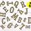 Thumbnail: DIGITAL Halloween Chevron Letters PNG Files