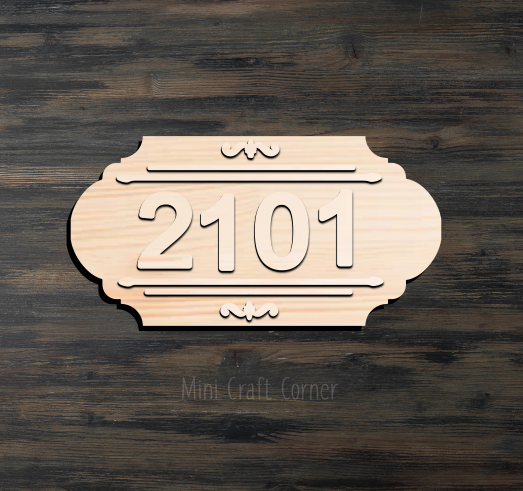 Porch Numbers Wooden Cutout