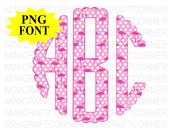 DIGITAL Flamingo Monogram Files
