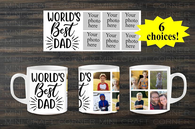 DIGITAL World's Best Dad Mug Wrap
