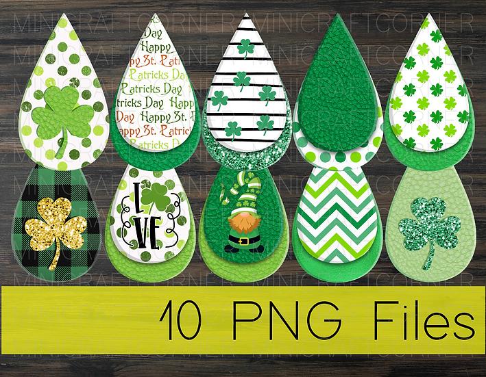 PNG -St. Patricks Earrings Design File