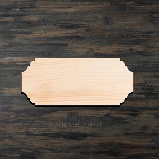 Plaque 3 Wooden Cutout