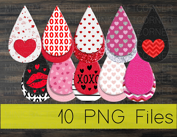PNG -Valentines Earrings Design File 2