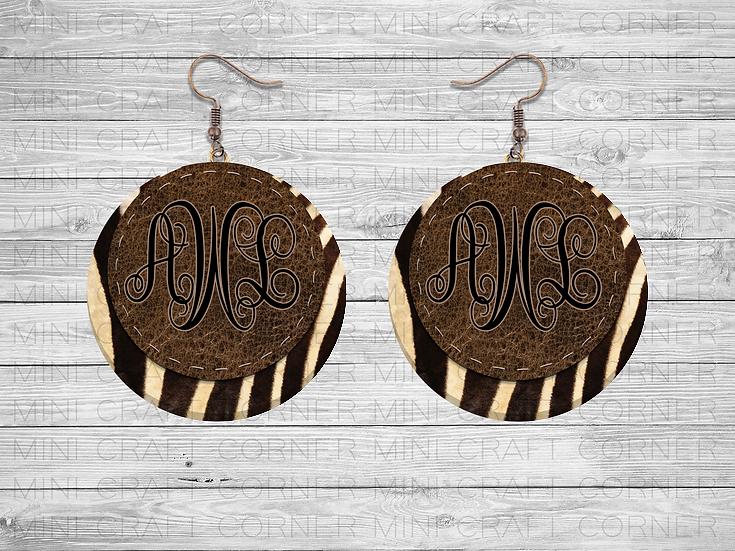 PNG Animal Print Earring Designs