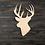 Thumbnail: Buck Head Wooden Cutout