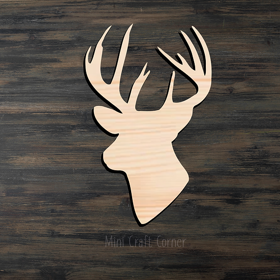 Buck Head Wooden Cutout