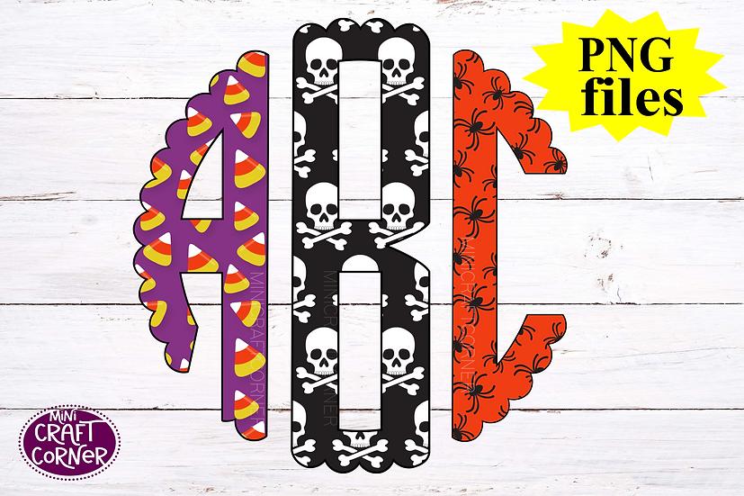 DIGITAL Halloween Monogram Files