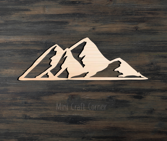 Mountain Wooden Cutout