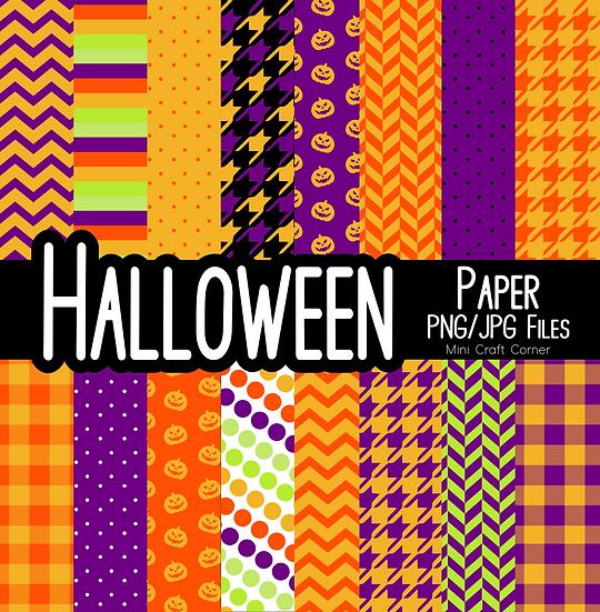 DIGITAL Halloween Backgrounds 3