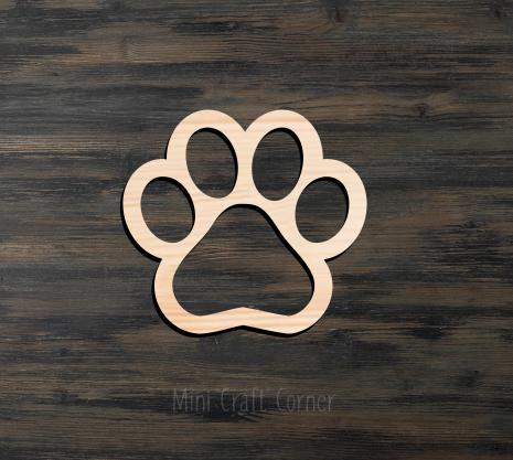 Paw Print Cutout