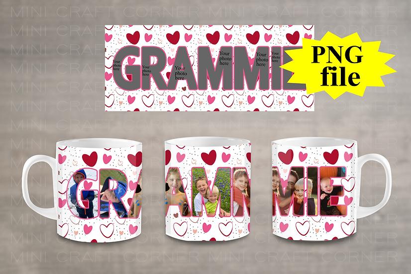 DIGITAL Grammie Photo Mug Wrap