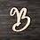Thumbnail: Letter B Wooden Cutout