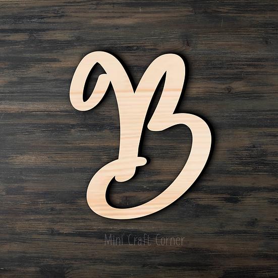 Letter B Wooden Cutout