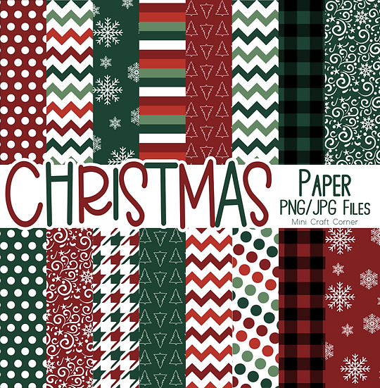 DIGITAL Christmas Paper