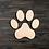 Thumbnail: Paw Print Wooden Cutout
