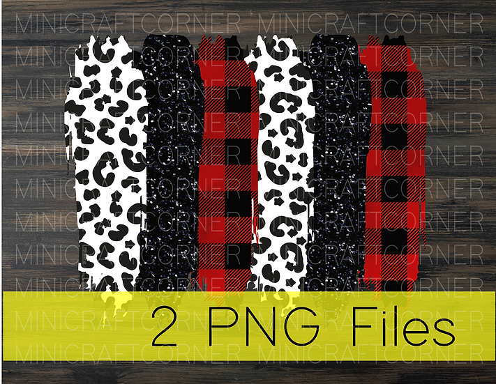PNG -Cheetah and Plaid Stroke Background