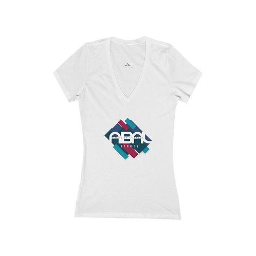 ABAL Sports Women's Jersey Short Sleeve Deep V-Neck Tee