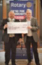 Ravensbourne Rotary cheque presentation.