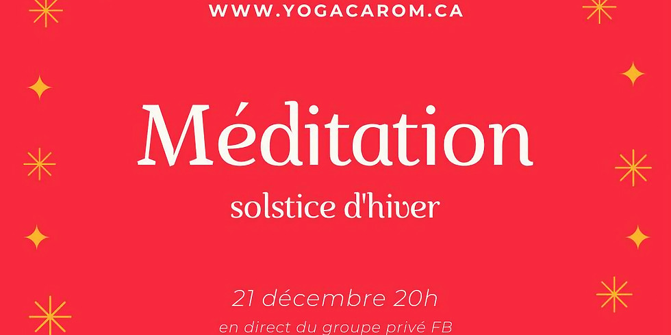 Méditation Solstice d'hiver