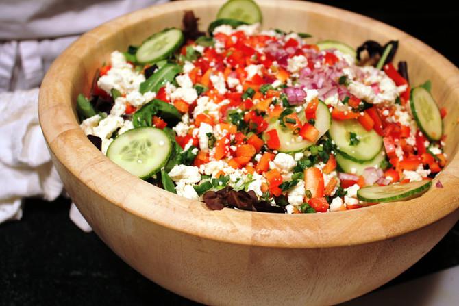 GAW: Fried rice and Greek salad