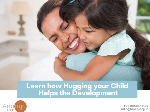 Learn how hugging your child helps the development