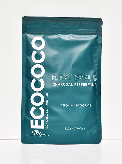 Peppermint & Charcoal Body Scrub 220g