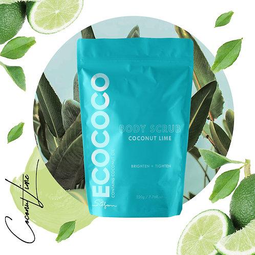 Ecococo Coconut Lime Body Scrub 220g