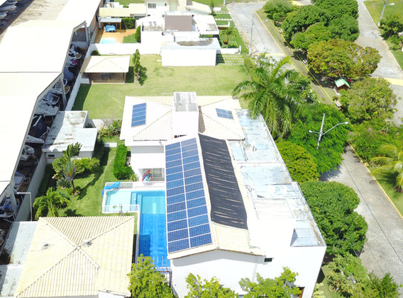 Painéis solares imóvel residencial