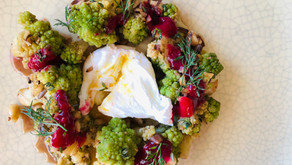 Christmas Brassica Wreath with Warmed Omega-3 Packed Vinaigrette