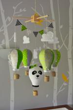 Panda hot air balloon mobile