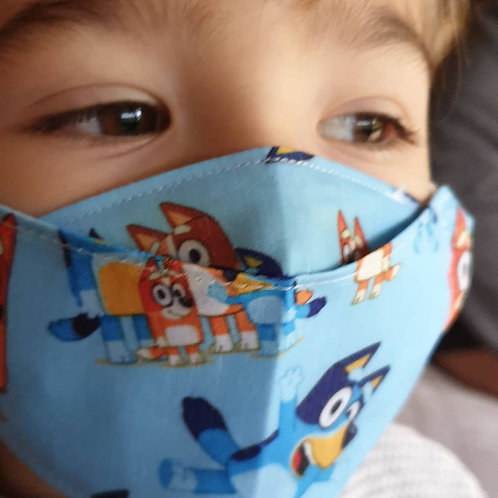'Bluey' kids face mask age 3 to 6