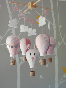 Rabbit hot air balloon