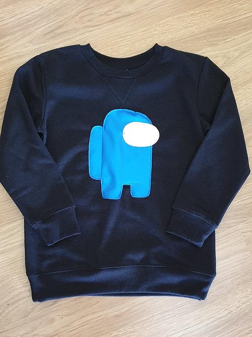 Among Us boys kids sweatshirt size 8