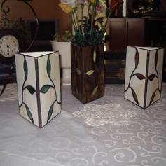 Tiffany váza levelekkel