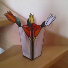 Tiffany tulipán cserépdísz
